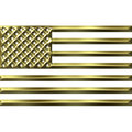 3D Golden USA Flag Royalty Free Stock Photo