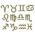 3D Golden Zodiac Signs Royalty Free Stock Photo