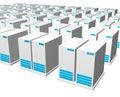 3d gray blue server