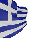 3D Greek flag Royalty Free Stock Photography