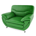 3D green chair on a white background Royalty Free Stock Photo