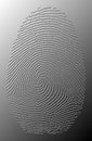 3D grey oily fingerprint on metal Stock Images