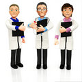 3D group of doctors Royalty Free Stock Image