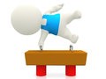 3D gymnast on balance beam Royalty Free Stock Images