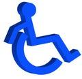 3d handicap symbol Royalty Free Stock Photography