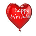 3D Happy Birthday helium balloon Royalty Free Stock Photos