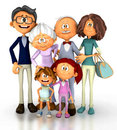 3D Happy family Stock Photo