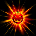 3D happy Halloween pumpkin Royalty Free Stock Images
