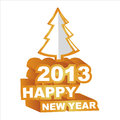 3D  , Happy new year 2013 Stock Photography
