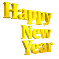 3D Happy New Year Text on white Stock Photo