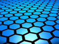 3D Hex Hexagon Hexagons Background Royalty Free Stock Image