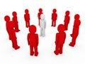 3d human circle red white Royalty Free Stock Photo