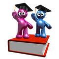 3d icon of graduation and book Stock Photo