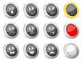 3d icons emoticons Stock Image