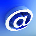 3d image of email symbol Royalty Free Stock Image
