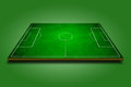 3d image of green soccer field Stock Photos