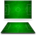 3d image of green soccer field Royalty Free Stock Photography