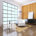 3D indoor sitting room rendering Stock Images