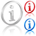 3D info symbol Royalty Free Stock Photography