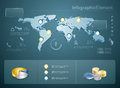 3d infographics Stock Photography