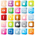 3D Interface Icons #1 Royalty Free Stock Images