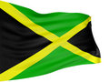 3D Jamaican flag Royalty Free Stock Photo
