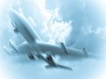 3d Jet airliner. Stock Image