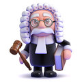 3d Judge holds a gaval and book Stock Photography