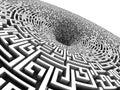 3D labyrinth Royalty Free Stock Photo