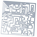 3D Labyrinth game Stock Images