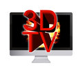 3D LCD TV Stock Image