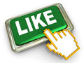 3d like button Stock Photo
