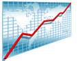 3d line chart Royalty Free Stock Photo