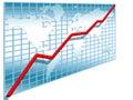 3d line chart Stock Image