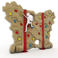 3d man escalating a climbing wall Stock Images