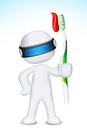 3d Man in Vector with Tooth Brush Stock Images