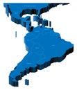 3d map of Latin America