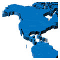 3d map of United States and Central America Royalty Free Stock Images