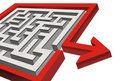 3d maze with exit