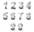 3d Metal numbers Stock Photo