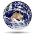 3d model of Earth : Australia and New Zealand view Stock Photography