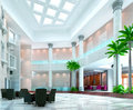 3d modern hall,corridor Royalty Free Stock Photo