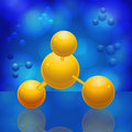 3d molecule Royalty Free Stock Images
