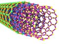 3D Nanotube Rendering Royalty Free Stock Photos