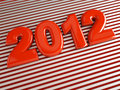 3d new year 2012 Royalty Free Stock Image