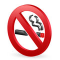 3D no smoking sign Royalty Free Stock Images
