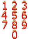 3D Numbers on Fire Stock Photos