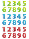 3D Numbers Set