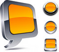 3d orange icons. Royalty Free Stock Photography