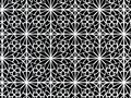 3d ornamental black and white detail Stock Image